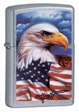 Mazzi Eagle Flag-Street Chrome Zippo Lighter Lighter