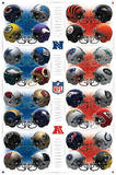 NFL Team Helmets Sports Poster Photo
