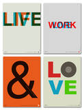 Inspiration Phrase Poster Set I Posters by  NaxArt