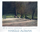 Central Park Benches Collectable Print by Harold Altman