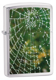 Spider Web Brush Chrome Zippo Lighter Lighter