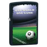 One World One Game Black Matte Zippo Lighter Lighter