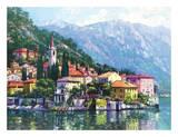 Riflessi del Lago di Como Poster di Howard Behrens