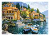 Llegada al lago Como Poster por Howard Behrens