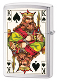 King (2 Sided) Brush Chrome Zippo Lighter Lighter