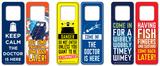Doctor Who Door Hanger Pack (6 designs) Novelty