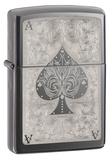 Fancy Ace Of Spade Black Ice Zippo Lighter Lighter