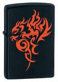 Hidden Dragon Black Matte Zippo Lighter Lighter