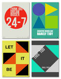 Graphic Phrase Poster Set Prints by  NaxArt