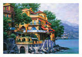 Portofino Villa Reprodukcje autor Howard Behrens