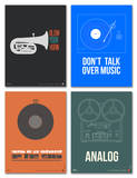 Music Phrase Poster Set Posters by  NaxArt