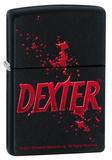 Zippo Lighter - Dexter Logo Black Matte Lighter