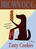 Brown Dog Tasty Cookies Print by Ken Bailey