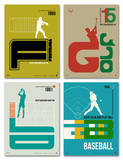 Graphic Sport Poster Set Prints by  NaxArt