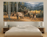 Elk (Indoor/Outdoor) Vinyl Wall Mural Wall Mural