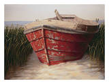 Red Boat Prints by Karl Soderlund
