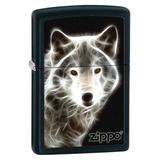 Wolf With Zippo Black Matte Zippo Lighter Lighter