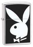 Playboy Logo Brush Chrome Zippo Lighter Lighter