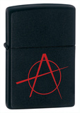 Anarchy Black Matte Zippo Lighter Lighter