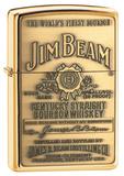 Jim Beam Brass Emblem High Polish Brass Zippo Lighter Lighter