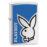 Playboy Blue Brush Chrome Zippo Lighter Lighter