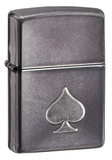 Stamped Spade Gray Dusk Zippo Lighter Lighter