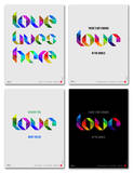 Love Phrase Poster Set Print by  NaxArt