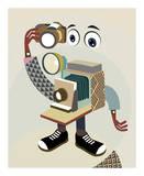 Retro Camera II Print by Lanre Adefioye