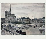 Paris, La Cite Collectable Print by Bernard Buffet