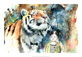 Mr. Tiger Reprodukcje autor Lora Zombie