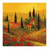 Coquelicots de ToscaneII Posters par Art Fronckowiak