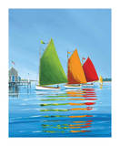 Cape Cod Sail Posters by Sally Caldwell-Fisher