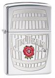 Jim Beam Barrel High Polish Chrome Zippo Lighter Lighter