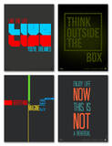 Inspiration Phrase Poster Set II Poster by  NaxArt