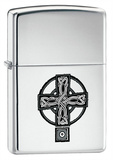 Celtic Cross High Polish Chrome Zippo Lighter Lighter
