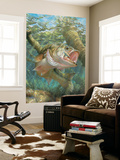 Large Mouth Bass (Indoor/Outdoor) Vinyl Wall Mural Wall Mural