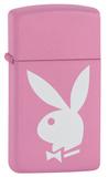 Playboy Pink Slim Pink Matte Zippo Lighter Lighter