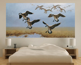 Geese Flying (Indoor/Outdoor) Vinyl Wall Mural Wall Mural