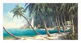 Bali Cove Print by Art Fronckowiak