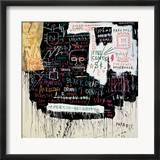 Museum Security (Broadway Meltdown), 1983 Estampe encadrée par Jean-Michel Basquiat