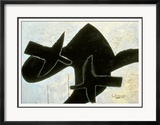 Reclining Nude Stampa giclée con cornice di Georges Braque