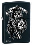 Sons Of Anarchy Skull Black Matte Zippo Lighter Lighter