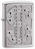 Bling Emblem High Polish Chrome Zippo Lighter Lighter