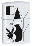 Playboy Black And White White Matte Zippo Lighter Lighter
