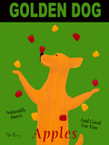 Golden Dog Apples Art by Ken Bailey
