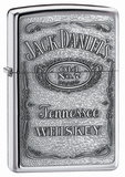 Jack Daniel's Pewter Emblem High Polish Chrome Zippo Lighter Lighter