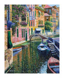Romantic Canal Print by Howard Behrens