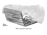 """Where's that damn 'escape' key?"" - New Yorker Cartoon Premium Giclee Print by Paul Karasik"