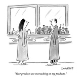 """""""Your products are encroaching on my products."""" - New Yorker Cartoon Premium Giclee Print by Liza Donnelly"""