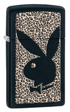 Playboy Animial Print Slim Black Matte Zippo Lighter Lighter